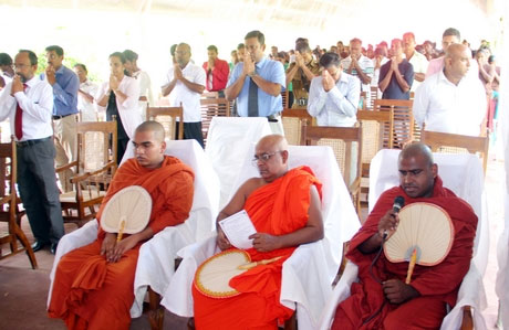 Inauguration of the plant by local monks